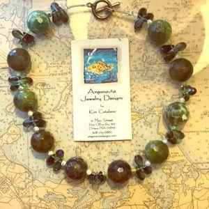 Agate and Quartz Necklace